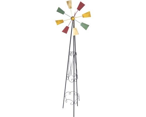 Metall Windrad H 120 cm