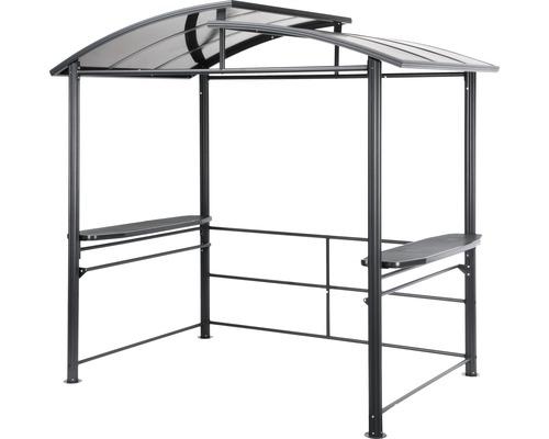 Grillpavillon 240x150x230 cm Polycarbonat schwarz
