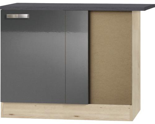 Eckunterschrank Optifit Udine Breite 100 cm KUUD UEL106-9+ Anthrazit