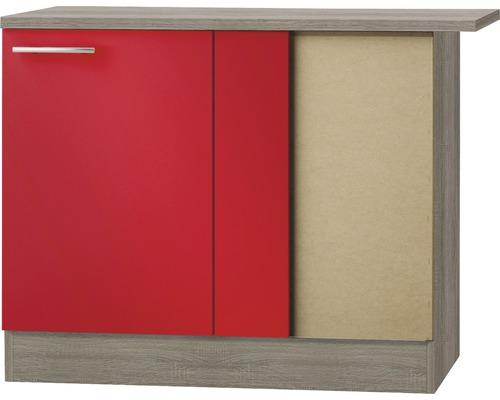 Eckunterschrank Optifit Imola Breite 100 cm KUIM UEL106-9+ Rot