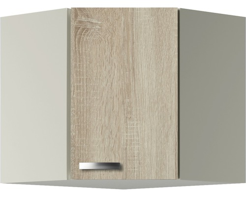 Eckhängeschrank Optifit Padua Breite 60 cm KUPD OED606-9+ Nachbildung Eiche-hell sägerau