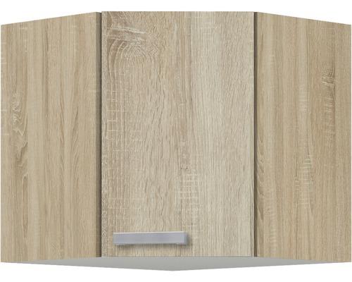 Eckhängeschrank Optifit Neapel Breite 60 cm KUNA OED606-9+ Nachbildung Eiche-hell sägerau