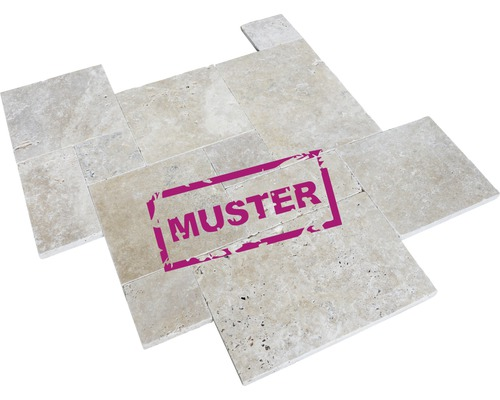 Muster zu Flairstone Travertin Terrassenplatte BARI