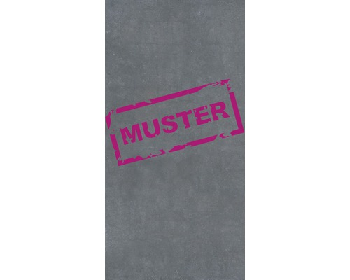 Muster zu Flairstone Feinsteinzeug Terrassenplatte cemento scuro dunkelgrau