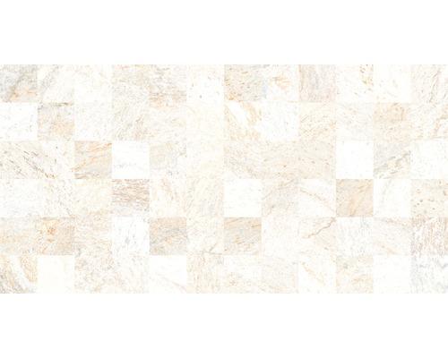 Dekorfliese Quarzit Blanco 32x62,5 cm