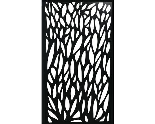 Design-Einsatz Konsta WPC breit aluminium, schwarz