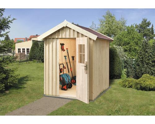 Gerätehaus weka Öland Gr.1 mit Fußboden 162 x 168 cm natur