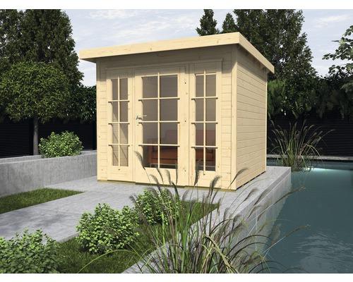 Gartenhaus weka Panorama 172 Gr.2 mit Fußboden 295 x 299 cm natur