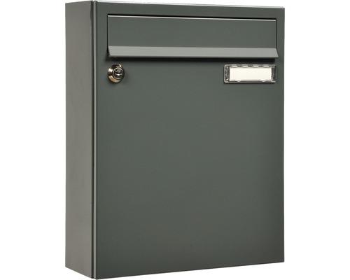 MEFA Briefkasten Stahl pulverbeschichtet BxHxT 260/330/110 Sonate (133), grau, RAL 7012
