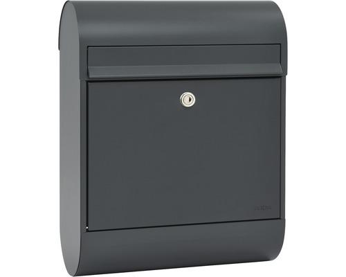 MEFA Briefkasten Stahl pulverbeschichtet BxHxT 360/465/168 Ruby (864) grau