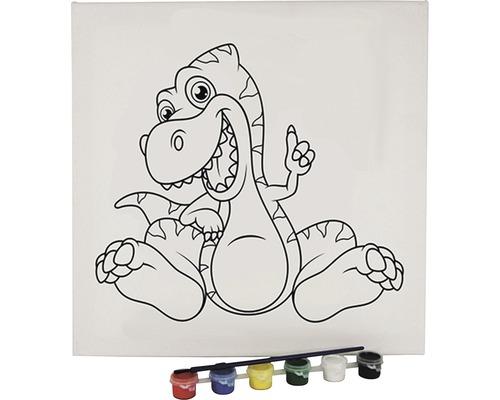 Kreativset Ausmalbild Drache 30x30 cm