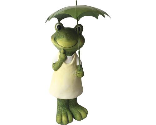 Frosch mit grünem Schirm 19,8 x 18,6 x 46,8 cm