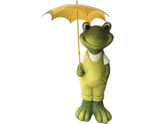 Frosch mit gelbem Schirm 19,8 x 18,6 x 46,8 cm