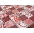 Glasmosaik Quadrat Crystal Mix red