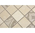 Keramikmosaik Quadrat Marmor/Keramik mix beige