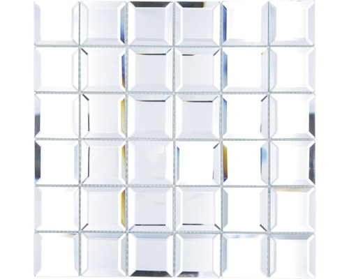 Glasmosaik Quadrat Mirror Metro