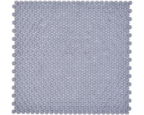 Glasmosaik Rund Enamel mix grau glänzend/matt