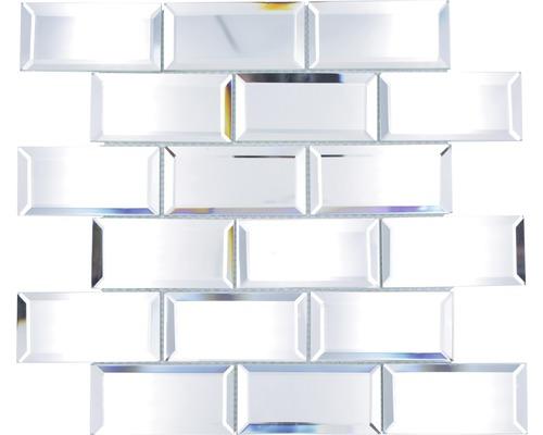 Glasmosaik Rechteck Mirror Metro