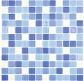 Glasmosaik Quadrat Crystal Mix blau light blue fluoreszierend