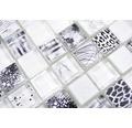 Glasmosaik Quadrat Crystal Mix superwhite