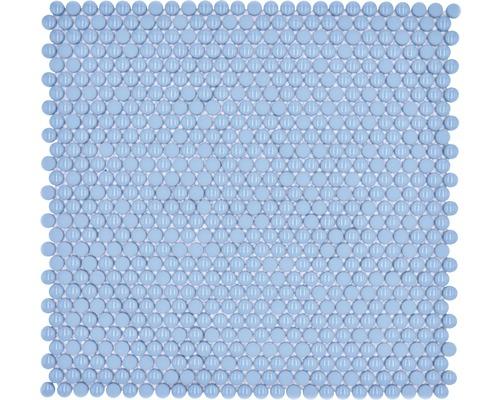 Glasmosaik Rund Enamel mix blau glänzend/matt