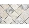 Keramikmosaik Quadrat Marmor/Keramik mix grau