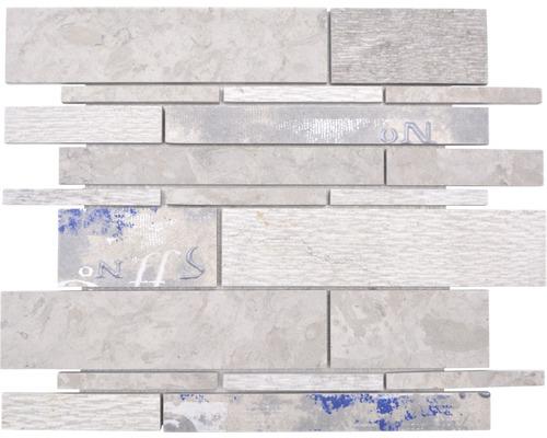 Keramikmosaik Marmor/Keramik Verbund mix grau/color