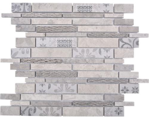 Keramikmosaik Marmor/Keramik Verbund mix grau