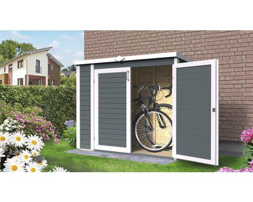 Gartenschrank/Fahrradgarage/ Mülltonnenbox Bertilo Multi-Box 3 200x82x163 cm anthrazit