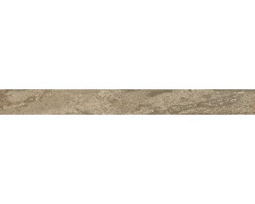 Sockel Lava Stein Kupfer glasiert matt 60 x 6 cm