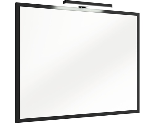 LED Badspiegel Brooklyn schwarz 60x80 cm