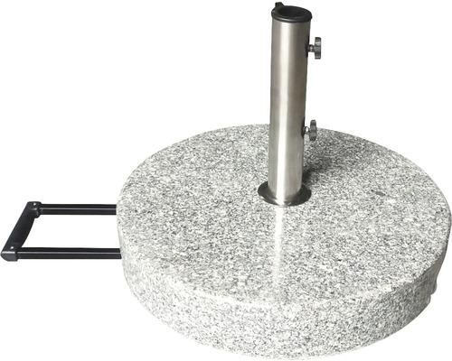 Schirmständer Granit 40 kg granit geeignet für Schirme mit Stockdurchmesser 38 mm /48 mm inkl. 2x Adapter