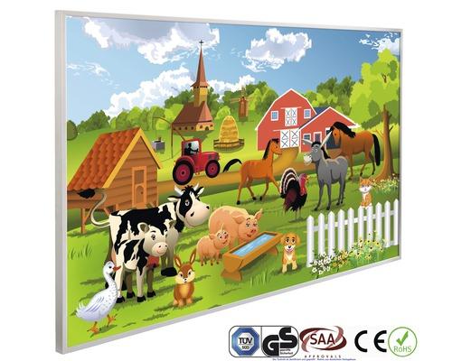 papermoon Bildheizung Infrarot Farm Kindermotiv 62 x 102 cm 600W