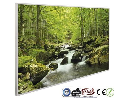 papermoon Bildheizung Infrarot Wasserfall im Wald 62 x 102 cm 600W