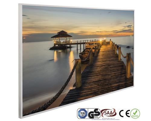 papermoon Bildheizung Infrarot Seebrücke 62 x 102 cm 600W