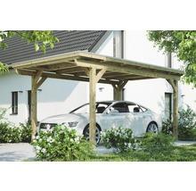 Einzelcarport Konsta Aluminium-Dachplatten inkl. H-Anker 304x500 cm natur