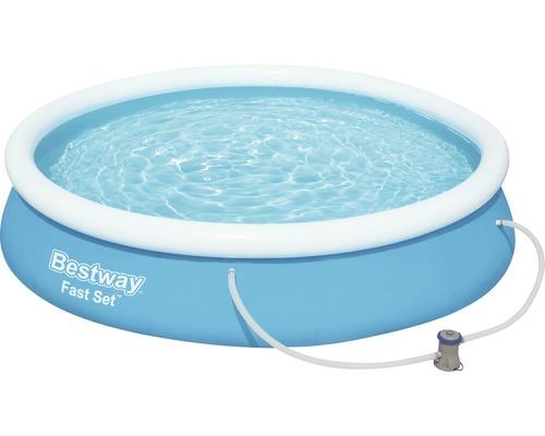Pool-Set Bestway Fast-Set Ø 366 cm H 76 cm mit Filterpumpe