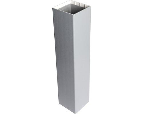 Pfosten Basicline zum einbetonieren, 8,7x8,7x155 cm, silbergrau