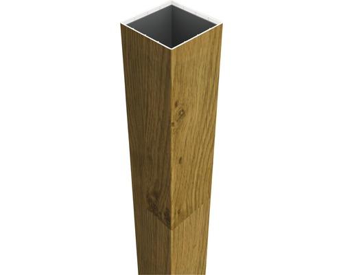 Pfosten Basicline zum aufdübeln, 8,7x8,7x135 cm, asteiche