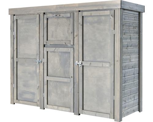 Mülltonnenbox, Paketschrank Typ 558 235,5 x 91 x 182 cm hellgrau