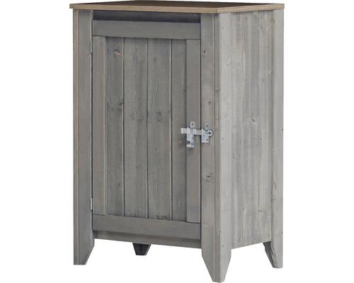 Gartenschrank/Outdoorküche Konsta Typ 559 inkl. 1 Tür 60x60x88 cm hellgrau