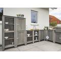 Gartenschrank/Outdoorküche Konsta Typ 559 Sideboard inkl. 2 Türen 115x40x88 cm hellgrau