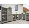 Gartenschrank/Outdoorküche Konsta Typ 559 Hochschrank inkl. 2 Türen 60x60x160 cm hellgrau