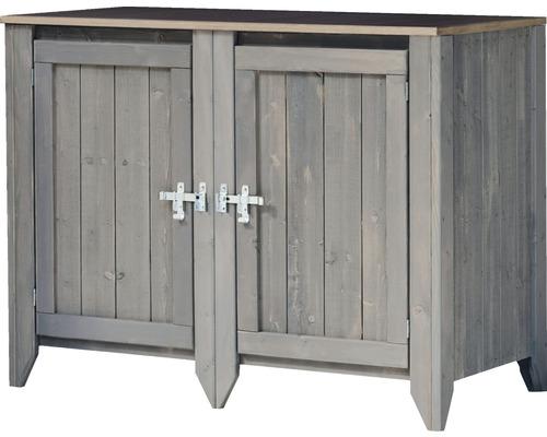 Gartenschrank/Outdoorküche Konsta Typ 559 Sideboard inkl. 2 Türen 115x60x88 cm hellgrau
