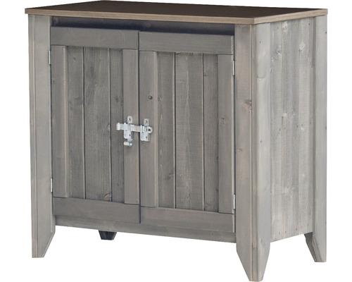 Gartenschrank/Outdoorküche Konsta Typ 559 Sideboard inkl. 2 Türen 80x40x73 cm hellgrau
