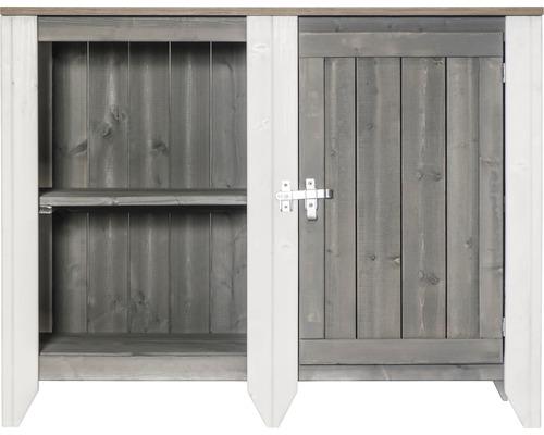 Gartenschrank/Outdoorküche Konsta Typ 561 Sideboard inkl. 1 Tür 115x60x88 cm hellgrau-creme