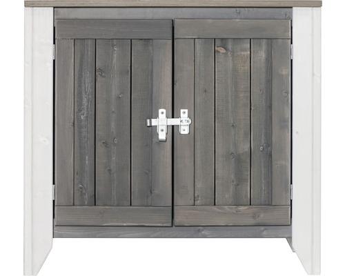 Gartenschrank/Outdoorküche Konsta Typ 561 Sideboard inkl. 2 Türen 80x40x73 cm hellgrau-creme