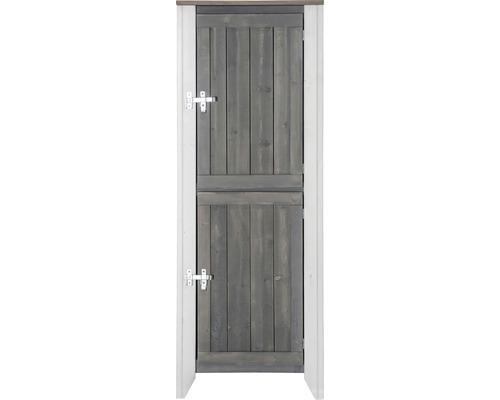 Gartenschrank/Outdoorküche Konsta Typ 561 Hochschrank inkl. 2 Türen 60x40x160 cm hellgrau-creme