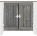 Gartenschrank/Outdoorküche Konsta Typ 561 Sideboard inkl. 2 Türen 80x60x73 cm hellgrau-creme