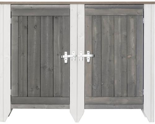 Gartenschrank/Outdoorküche Konsta Typ 561 Sideboard inkl. 2 Türen 115x40x88 cm hellgrau-creme